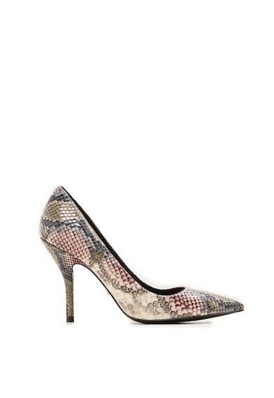 VIOLETA BY MANGO Pantofi cu animal print si toc inalt Tuna Femei