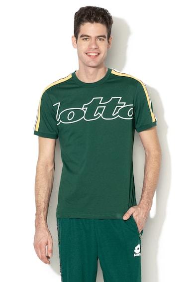 Lotto Tricou cu imprimeu logo si dungi laterale contrastante Athletica II Barbati