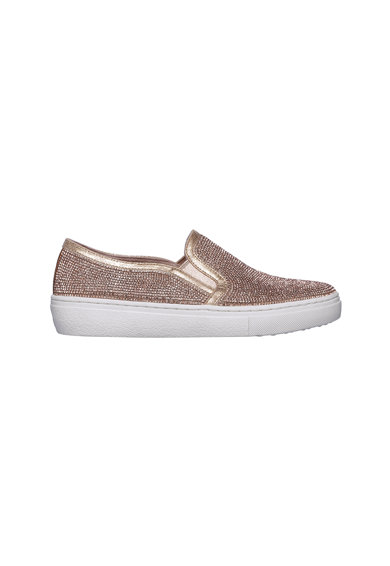 Skechers Goldie-Flashow strasszkövekkel díszített bebújós cipő női
