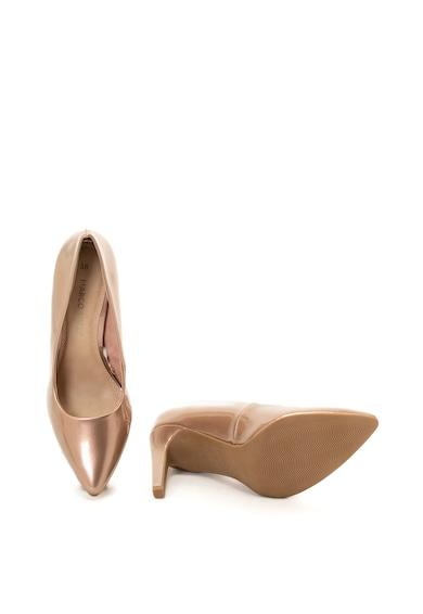 Marco Tozzi Pantofi de piele ecologica cu varf ascutit si aspect lucios Femei