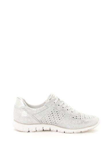 Marco Tozzi Pantofi sport de piele si piele ecologica cu aspect stralucitor Femei