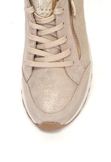 Marco Tozzi Pantofi sport de piele si material textil cu insertii lucioase Femei