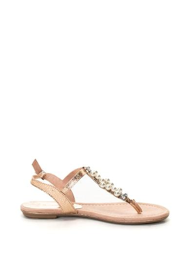 Marco Tozzi Sandale de piele ecologica cu bareta in forma de T Femei