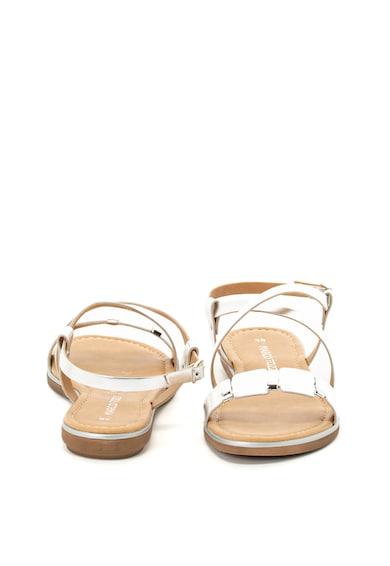 Marco Tozzi Sandale de piele cu aspect metalizat Femei