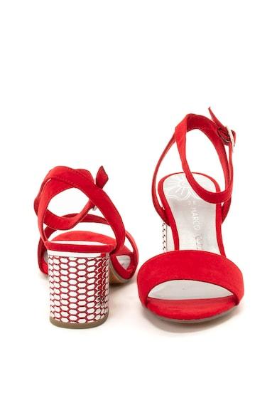 Marco Tozzi Sandale de piele ecologica cu toc masiv Femei