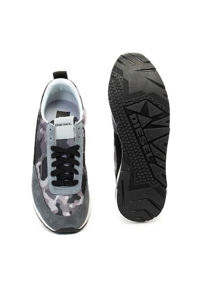 Diesel S-KB terepmintás, alacsony szárú, fűzős sneakers cipő férfi