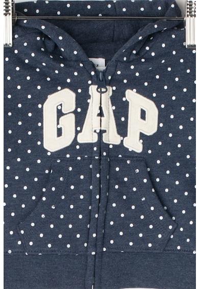GAP Cipzáros kapucnis pulóver logómintával Lány