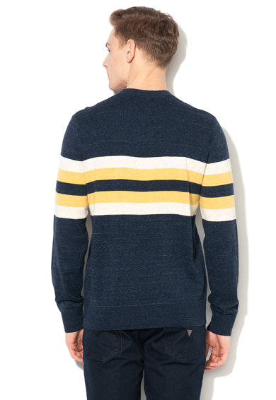 GAP Kerek nyakú csíkos pulóver férfi