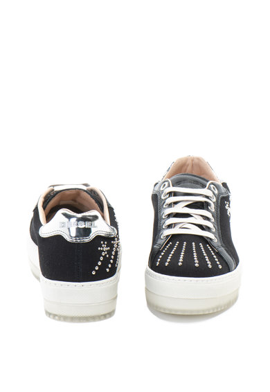 Diesel Pantofi sport flatform de piele si material textil S-Andyes Femei
