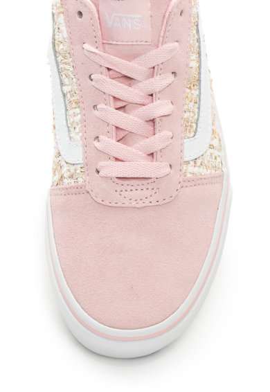 Vans Ward flatform cipő nyersbőr szegélyekkel női