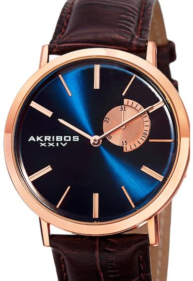 AKRIBOS XXIV Ceas cu o curea de piele 9 Barbati