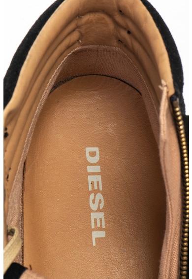 Diesel D-String Plus magas szárú nyersbőr cipő bőrszegélyekkel férfi