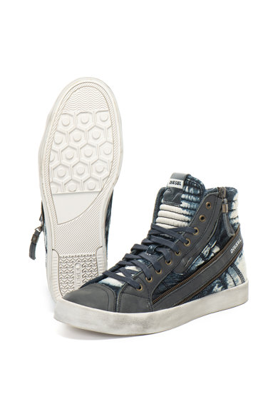String középmagas szárú farmer és bőr sneakers cipő - Diesel (Y01639 ... 7dfe18ded2