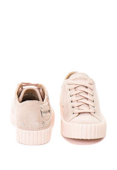 Diesel Pantofi sport de piele intoarsa cu talpa flatform texturata Exposure Femei