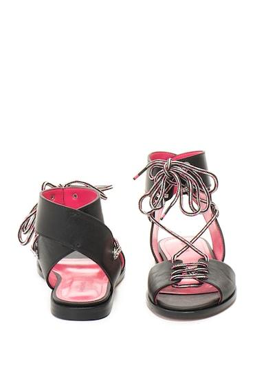Diesel Sandale cu bareta pe glezna, de piele, cu snur Arlin Femei