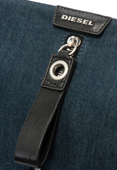 Diesel Чанта за лаптоп от гумиран деним с еко кожа Мъже