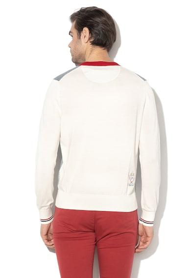 LA MARTINA V-nyakú pulóver hímzett logóval férfi