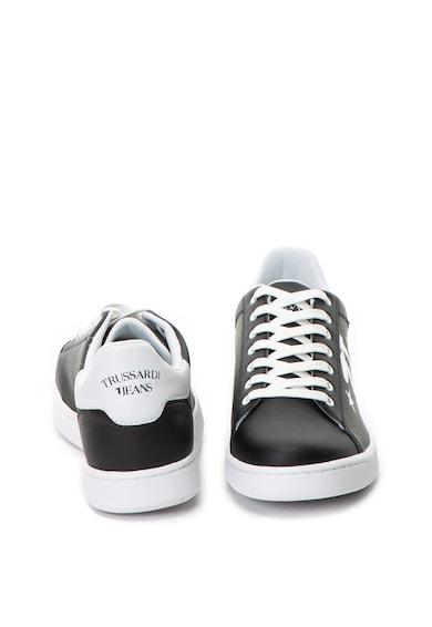 Trussardi Jeans Pantofi sport de piele ecologica Barbati