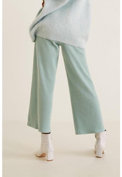 Mango Aqua bordázott kötött nadrág női