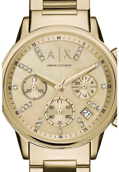 armani exchange Часовник с хронограф и метална верижка Жени