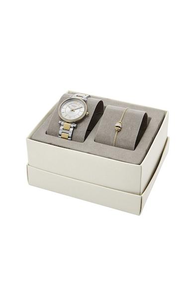 Fossil Часовник Carlie от неръждаема стомана и гривна Жени