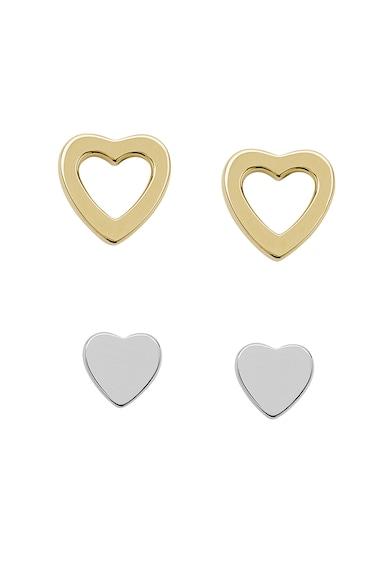 Fossil Sterling ezüst szív alakú fülbevaló szett női