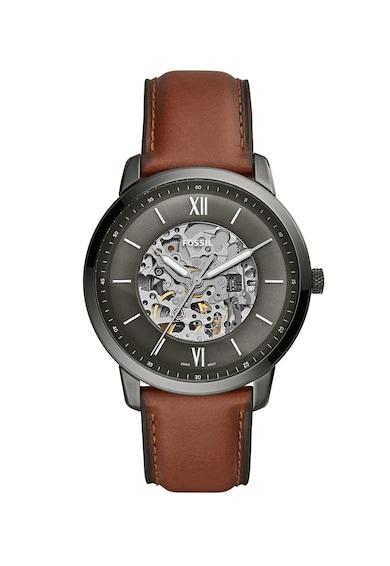 Fossil Автоматичен часовник с кожена каишка Мъже