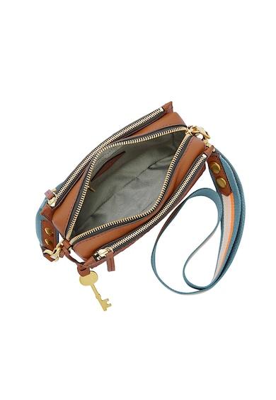 Fossil Кожена чанта през рамо Campbell Жени