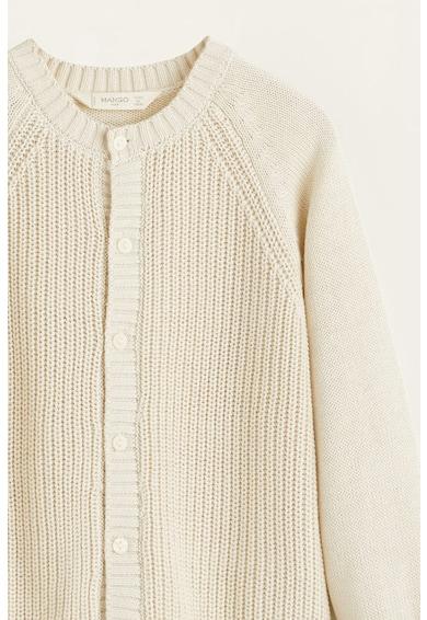 Mango Cardigan tricotat cu nasturi Blonda Fete