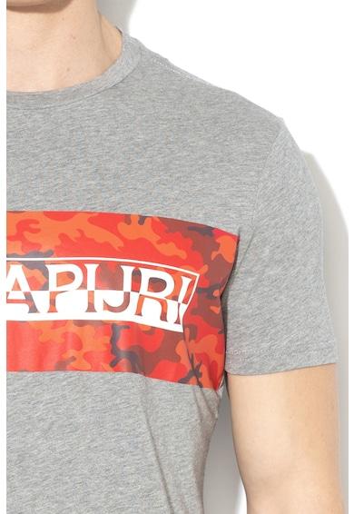 Napapijri Salka póló kontrasztos logómintával férfi