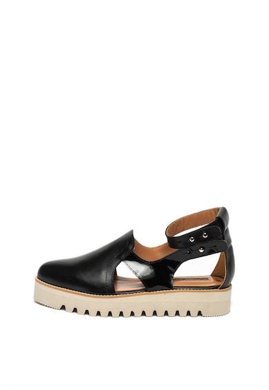 Mihaela Glavan Pantofi flatform de piele, cu decupaje Femei