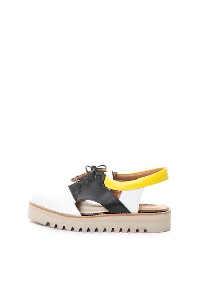 Mihaela Glavan Pantofi slingback de piele cu talpa plata Femei