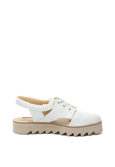 Mihaela Glavan Pantofi slingback flatform, de piele Femei