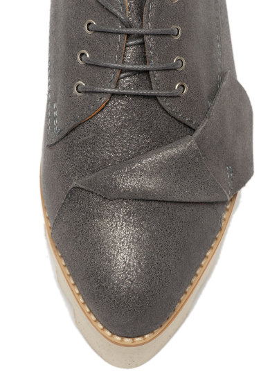 Mihaela Glavan Pantofi flatform de piele, cu varf ascutit Femei