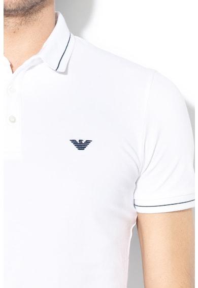 Emporio Armani Galléros póló hímzett logóval férfi