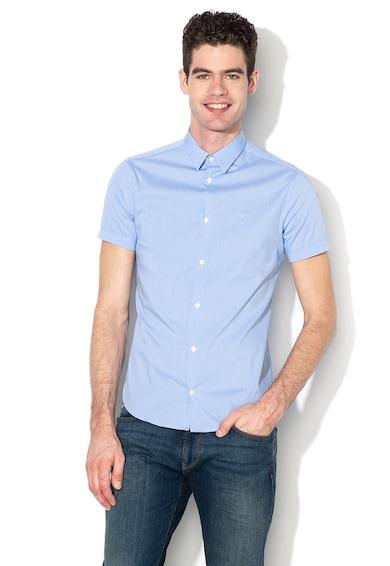 Emporio Armani Карирана риза с къси ръкави Мъже