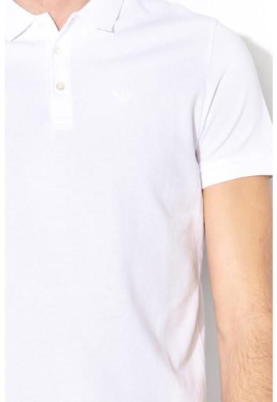 Emporio Armani Galléros póló gumis logóval férfi