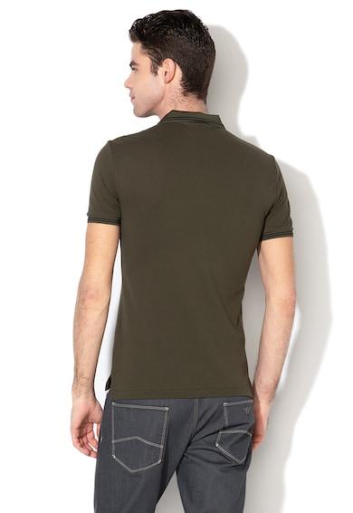 Emporio Armani Тениска с яка и гумено лого Мъже