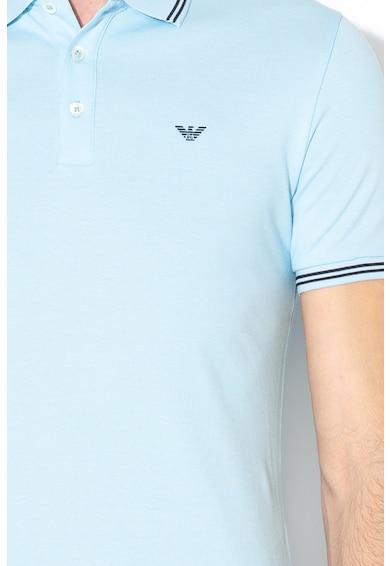 Emporio Armani Tricou polo din material pique cu logo pe piept Barbati
