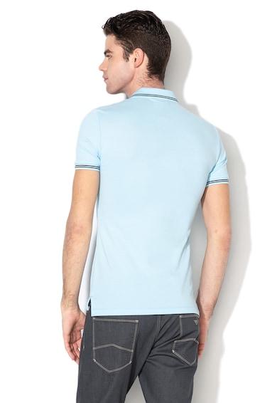 Emporio Armani Тениска от пике с яка и лого на гърдите Мъже