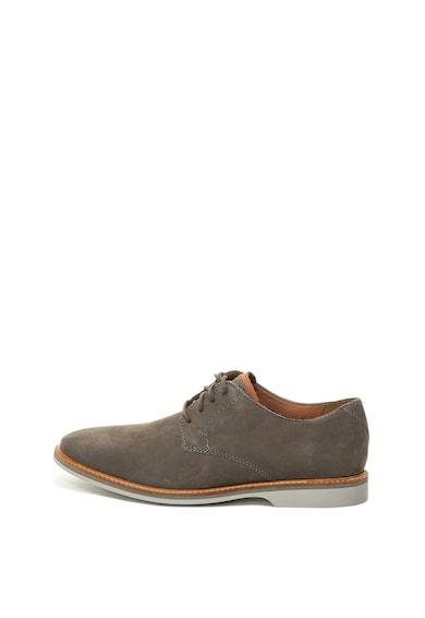 Clarks Pantofi de piele nabuc, cu sireturi Atticus Barbati