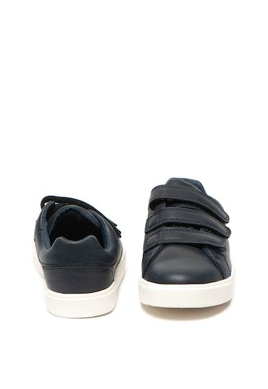 Clarks Pantofi sport de piele cu velcro City Oasis Fete