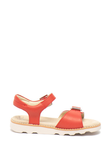 Clarks Кожени сандали Crown Bloom с токи Момичета