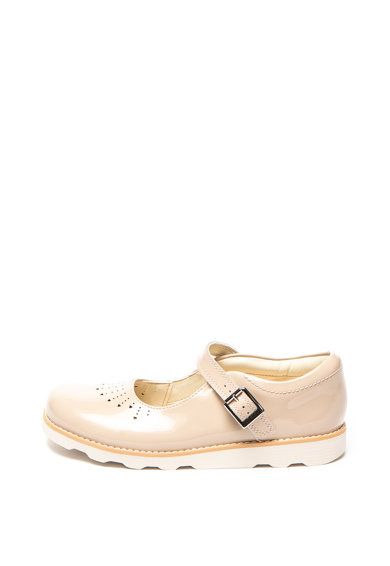 Clarks Pantofi Mary Jane de piele lacuita Crown Baieti
