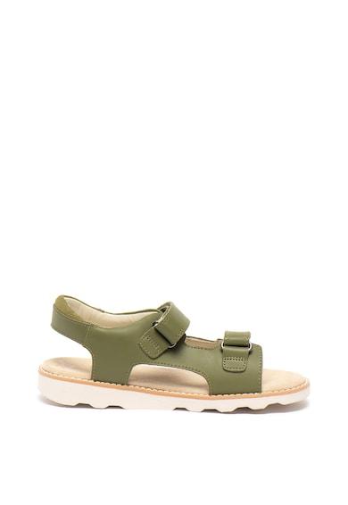 Clarks Sandale de piele, cu velcro Crown Root Fete