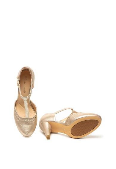Clarks Pantofi de piele cu bareta T Dalia Leah Femei
