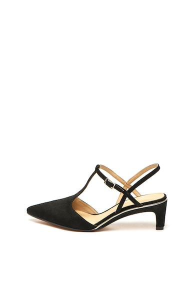 Clarks Pantofi slingback de piele nabuc Ellis Femei