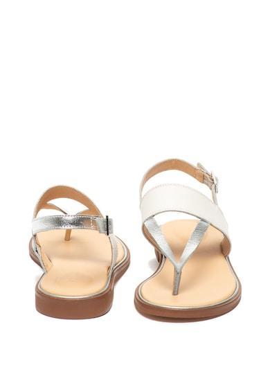 Clarks Sandale de piele, cu bareta separatoare Ellis Opal Femei