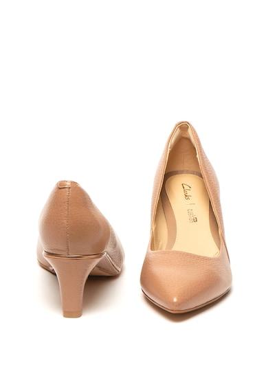 Clarks Pantofi de piele cu varf ascutit cu toc kitten Ellis Rose Femei