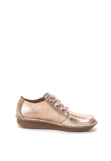 Clarks Pantofi de piele cu aspect metalizat Funny Dream Femei
